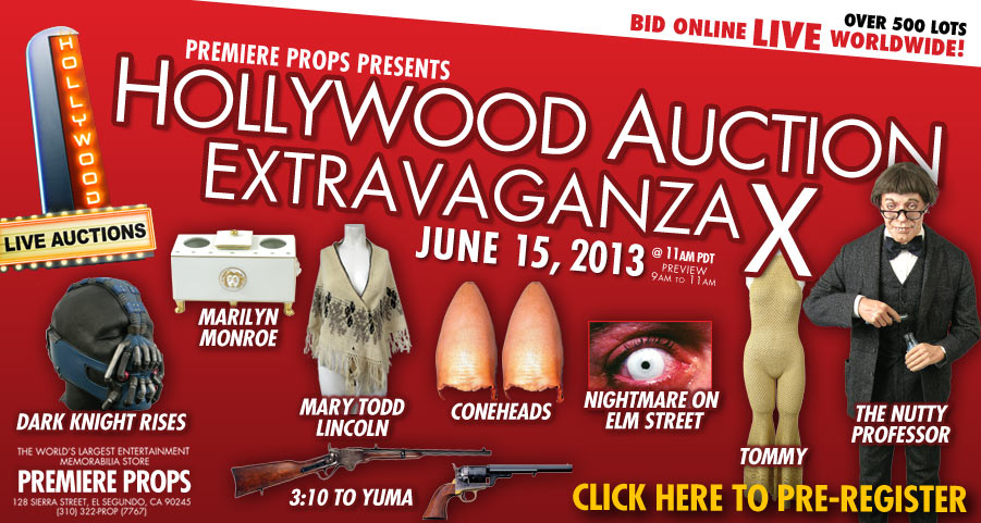 Hollywood Movie Memorabilia Auction