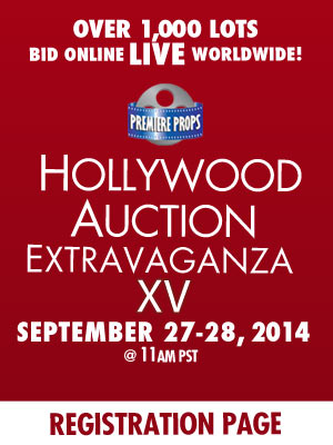 Hollywood Auction Extravaganza Live Auction Movie Prop and Memorabilia